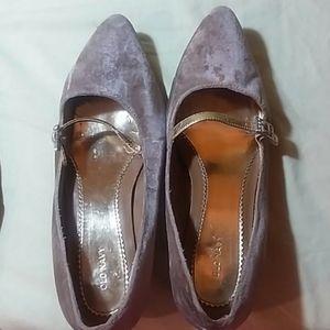 Gold Velveteen Shoes
